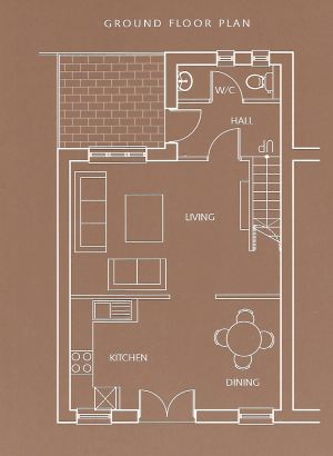 Waddleduck Cottage ground floor plan